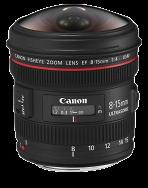 Canon EF 8-15mm 1:4L Fisheye USM