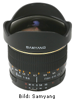 Samyang 8mm f/3.5 Aspherical IF MC Fish-eye