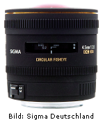 Sigma 4,5mm F2,8 EX DC Zirkular Fisheye HSM