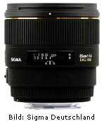 Sigma 85mm 1:1,4 EX DG HSM